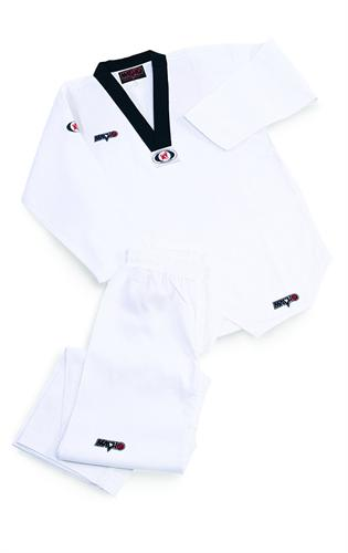Macho Taekwondo Ribbed V-neck Uniform *CLOSEOUT*